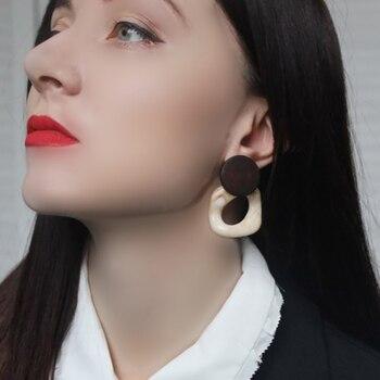 AENSOA Fashion Big Resin Drop Square Earrings For Women 1