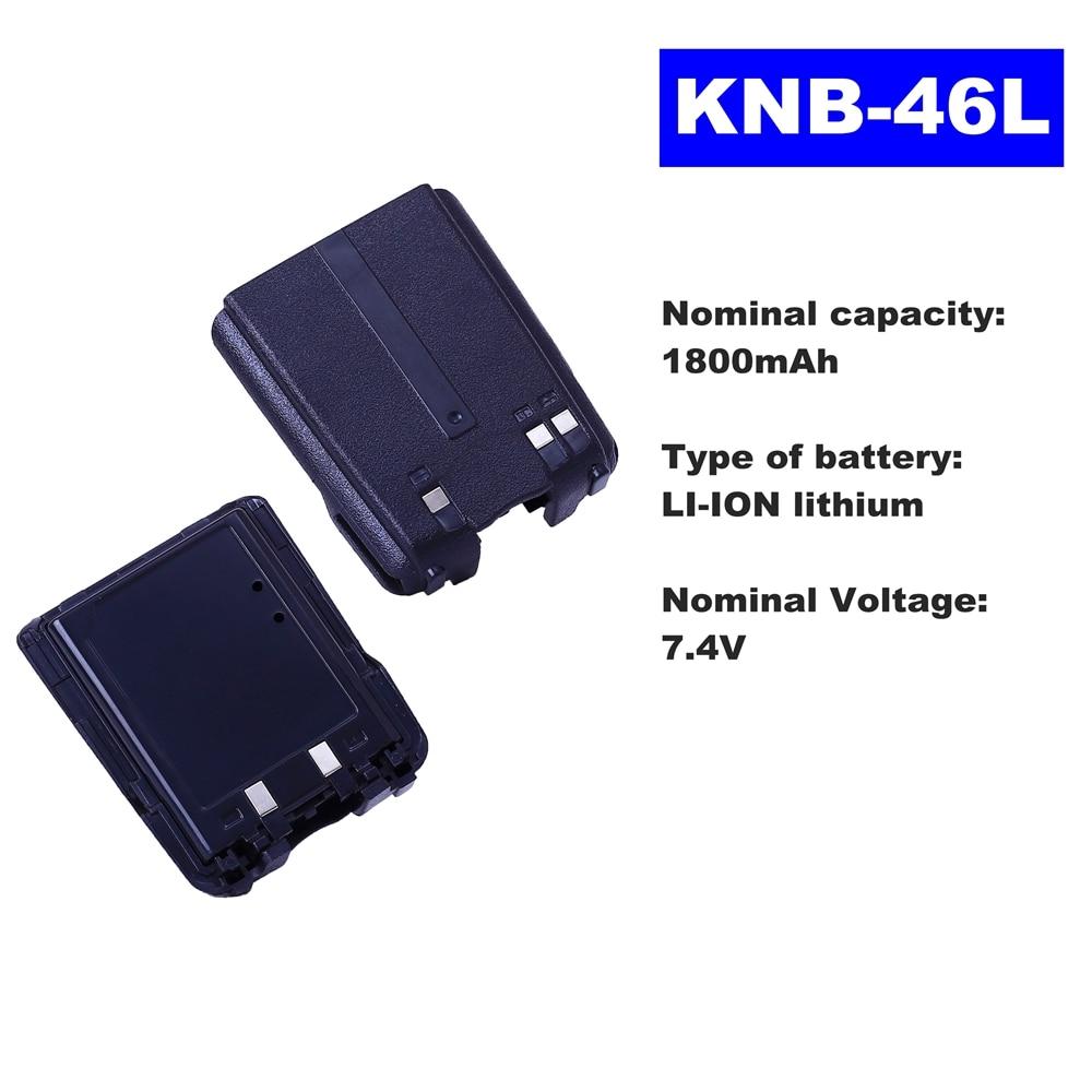 7.4V 1800mAh LI-ION Radio Battery KNB-46L For Kenwood Walkie Talkie TK-3230 Two Way Radio