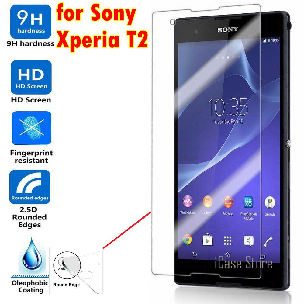 Premium 9h Tempered Glass for Sony Xperia T2 Ultra dual Screen Protector Film for Sony T2 Ultra XM50H D5322 D5303 case