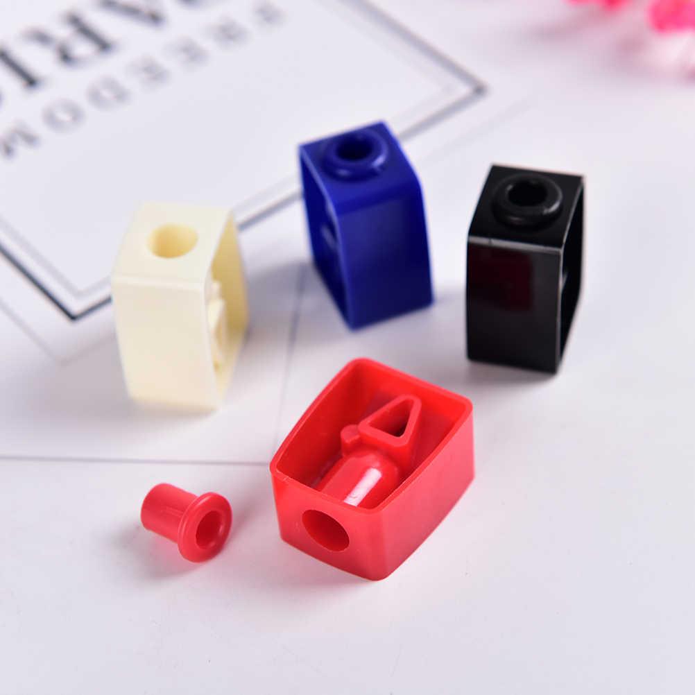 5 個鉛筆削り眉ペンシル ShaverEye ライナーリップライナー SharpenerPortable 化粧ペン 1 穴シェーバーツール色: ランダム