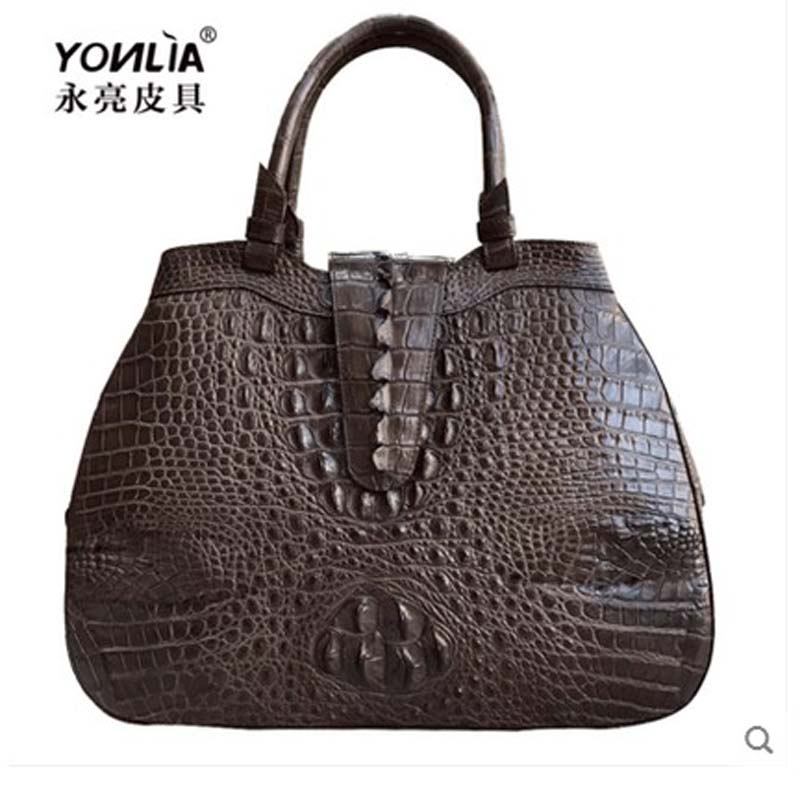 yongliang new old lady crocodile women handbag Crossbody can shoulder leather fashion all-match style the little old lady in saint tropez