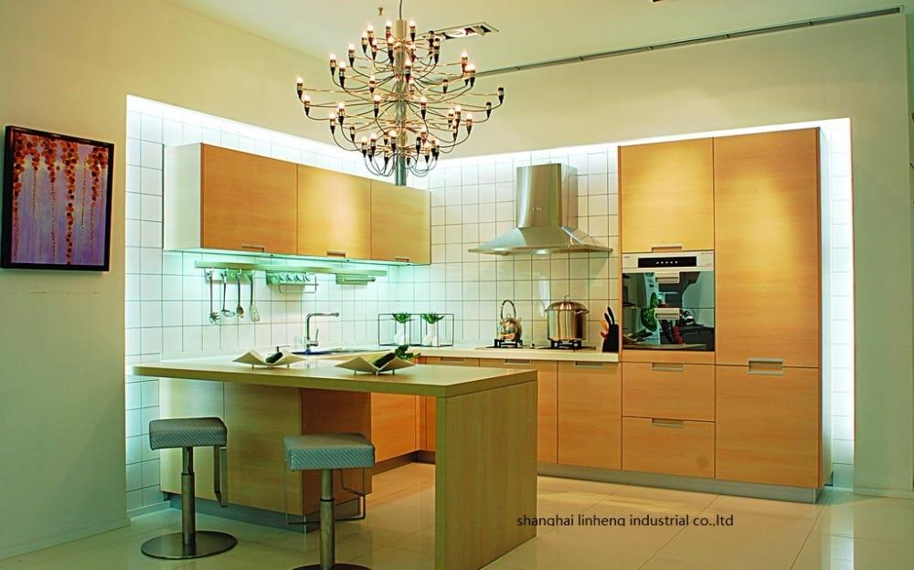 melamine/mfc kitchen cabinets(LH-ME049)