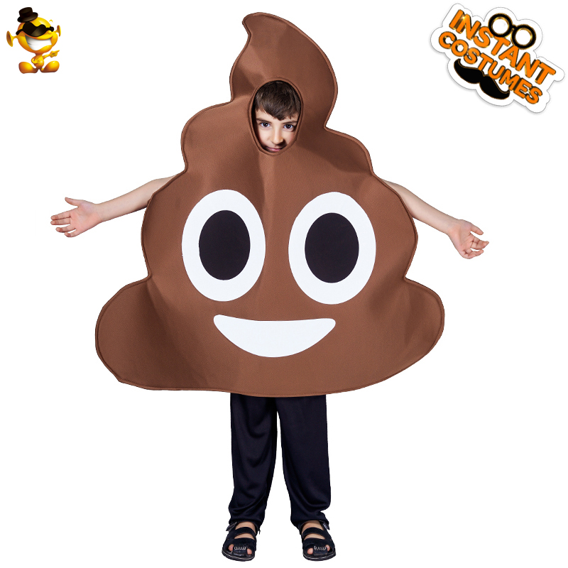 DISPLAY Kid Poop Jumpsuit New Style Kids Cosplay Costumes for Carnival Halloween Party