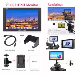 Feelworld T7 7IPS 4K HDMI Camera Monitor with Aluminum Metal Frame for DSLR Camera Video