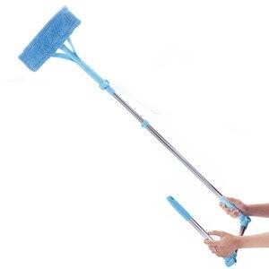 Image 5 - Nettoyage verre vadrouille Multi éponge nettoyant brosse éponge lavage télescopique haute hauteur fenêtres poussière brosse facile nettoyer les fenêtres