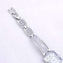 Women Vintage Luxury Gold + Silver Watches Elegant Quartz Fashion Rectangle Dial Watch Carved Pattern Bracelet Casual WristWatch