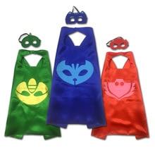 PJ 3 Set Catboy Owlette Gekko cape + MASKER Mannelijke kinderen verjaardagsfeestje masker gratis verzending