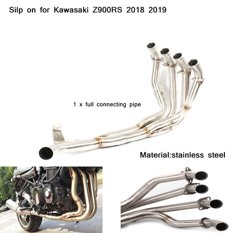 51mm Header Motorcycle Full Connecting Pipe Non-destructive modification Silp on for Kawasaki Z900RS 2018 2019