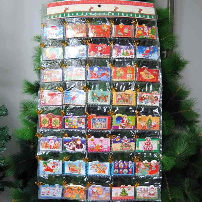 12 Pcs Diy רעיונות דביק מדבקת אופנה חג המולד החג שמח מאחל מדבקת מכתבים ציוד לבית ספר 4.7X3.2 cm