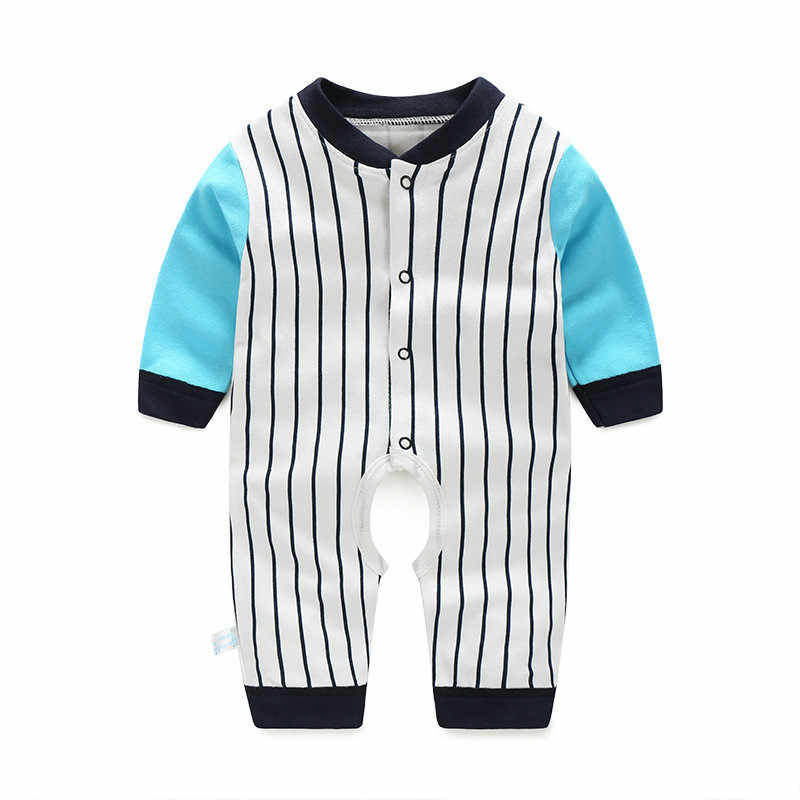 e55ea1cd1ecd Striped spring Autumn baby clothing cartoon baby girl rompers 100%cotton baby  boy clothes jumpsuit
