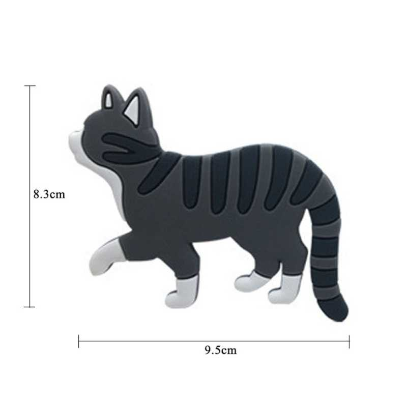 사랑스러운 다기능 만화 고양이 냉장고 자석 후크 냉장고 마그네틱 스티커 후크