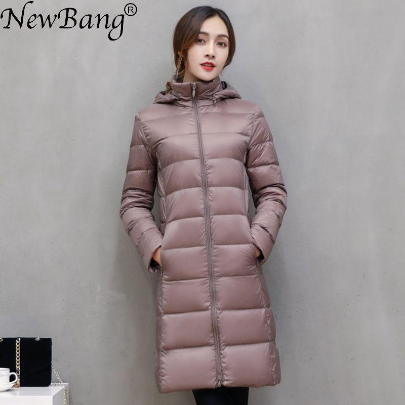 NewBang Brand Long Winter   Down   Jackets Women   Down   Jacket Female Long Windproof Warm   Coat   Winter Hooded Detachable Outwear