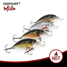 Купить с кэшбэком 1PCS Crankbait Fishing Lure  Lifelike Lures 6cm 10g Hard Baits Swimbait  Sinking Fish Wobbler Minnow Lure Pesca Isca For Bass