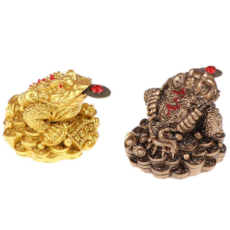 Feng Shui sapo dinero suerte fortuna y riqueza chino de rana, sapo moneda hogar Oficina Decoración de mesa decoración regalos de La Fortuna