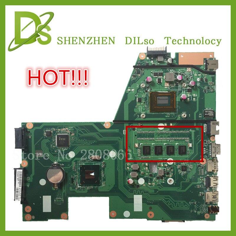 HOT KEFU X551CAP For ASUS X551CA F551C Laptop motherboard X551CA mainboard REV2 2 cpu 1007u 4GB