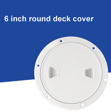 Access Inspection Hatch Tool Marine Boat Non Slip Anti-aging Anti-UV Yacht Round Cover 6 Inch Waterproof Deck Plate Tight