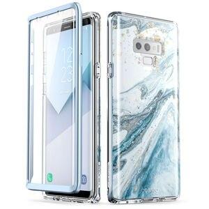 Image 3 - Do Samsung Galaxy Note 9 Case i blason Cosmo Full Body Glitter marmurowa osłona ochronna zderzaka z wbudowanym ochraniaczem ekranu