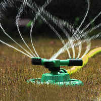 360 Degree Garden Sprinklers Automatic Watering Grass Lawn Adjustable Fully 3 Nozzle Circle Rotating Lawn Irrigation System