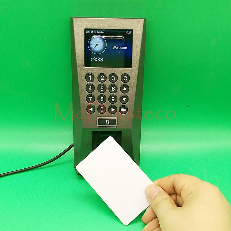 Optional Spanish,Arabic fingerprint Door Access Control System TCP/IP F18 FP & 13.56mhz IC fingerprint Door Security Controller 2 8 inch color display tfs20 biometric fingerprint access controller tcp ip fingerprint access control reader optional