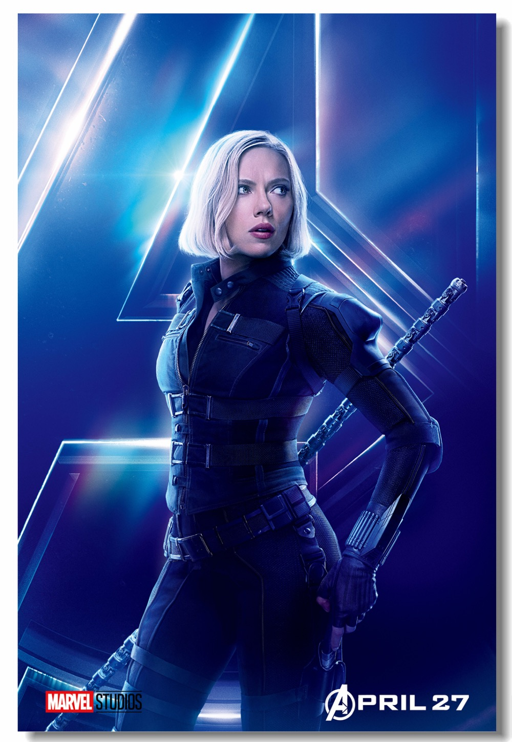 Us 599 25 Offcustom Canvas Wall Decor Scarlett Johansson Black Widow Poster Marvel Avengers Infinity War Wall Sticker Falcon Wallpaper 0371 In