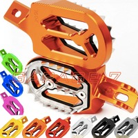 CNC Dirt Bike Foot Pegs For KTM 125 SX 125SX 1998 2015 2014 2013 2012 2011 2010 Motocross Sharp Shark Teeth Footrests Footpegs