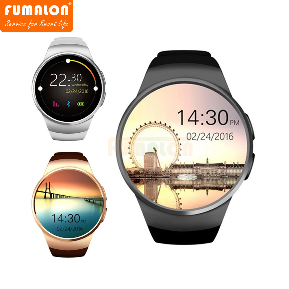 FUMALON KW18 Smart Watch Support Heart Rate Monitor SIM Card Message Push Bluetooth Smartwatch Sports Clock for Android IOS new arrive gt08 smart watch bluetooth sim card slot push message bluetooth connectivity nfc for iphone android phoones