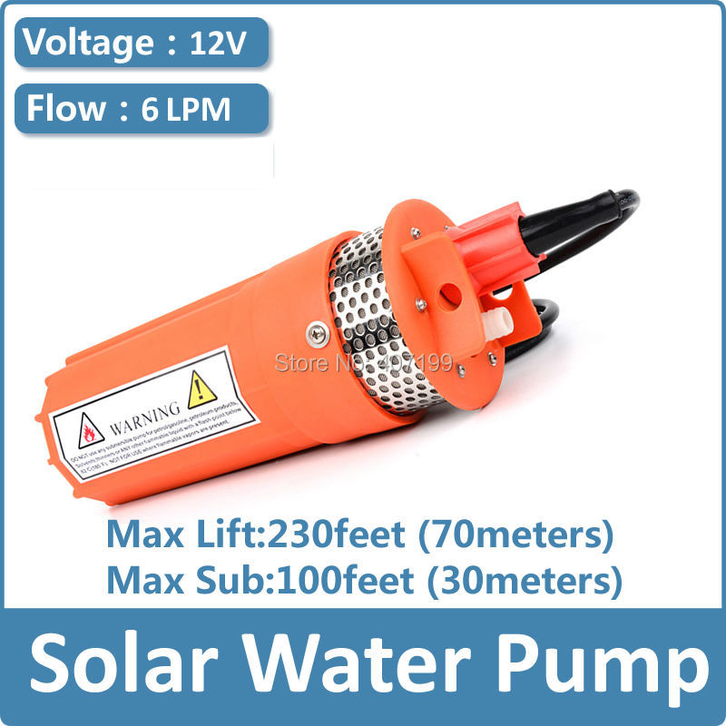 Dc Solar Submersible Pump price,12V 24V 6L/MIN Lift 70meter diaphragm dc pump for 30m deep well free shipping free shipping ss316 dc submersible solar pump solar water pump 1 cbm hr 30m model 3sps1 0 30