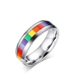 Кольцо для женщин и мужчин, с серебряным покрытием, из нержавеющей стали, 6 мм