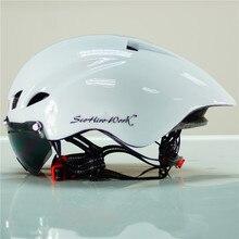 2017 Mtb Mountain Road Fahrrad Helm objektiv visier glas Capacete da Ciclismo Cascos Ciclismo Radfahren Helm Integral