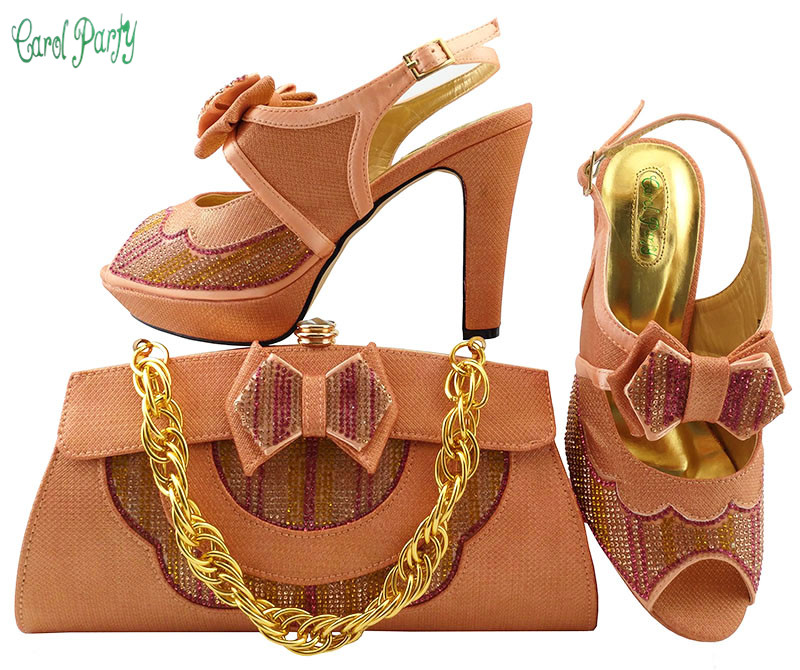 African Women Shoes and Bag Italian Shoes and Bag Set Decorated with Rhinestine Ladies Wedding Matching Shoe and Bag  MM1038 african wedding shoes and bag sets women pumps decorated with diamonds italian matching shoe and bag mm1014