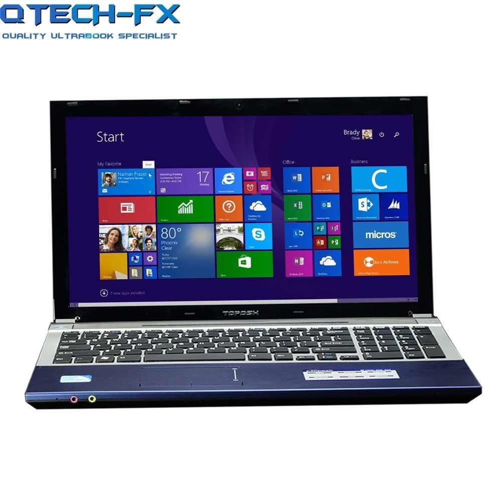 """15.6 """"i7 8GB RAM SSD 256GB או 1TB HDD DVD מתכת מהיר מעבד אינטל i7 עסקים בית ספר AZERTY ספרדית רוסית מקלדת"""