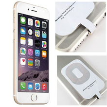 For Apple Iphone 5 5s 5c 6 6s Plus Qi Wireless Charger Receiver Card for Ipone Iphon I6 I5 Mobile Phone Smart Charging Adapter(China)