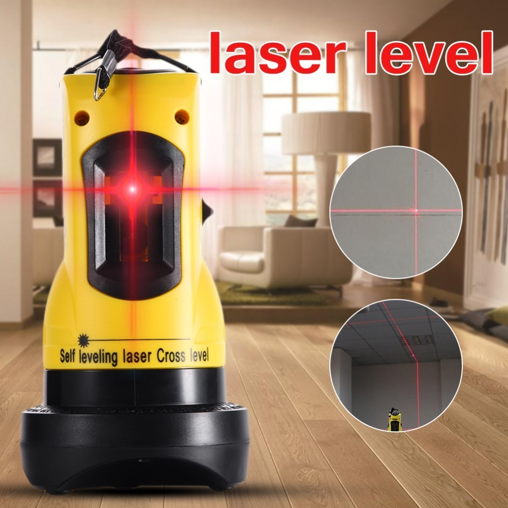110 Degrees Laser Launch Angle Laser Level Hight Adjustable DIY Economic 2 (1V, 1H) Cross Lines Automatic Laser Level