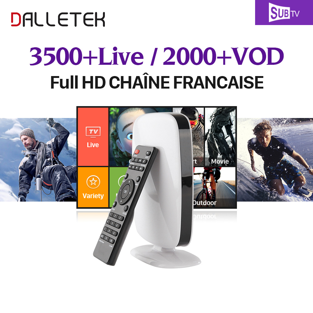 IPTV French Arabic IPTV Box SUBTV 3500 Channels Android 6.0 TV Box Quad Core WiFi 4K Ultra HD Dalletektv Smart TV Box sandisk microsdhc android ultra 64gb class 10 с адаптером