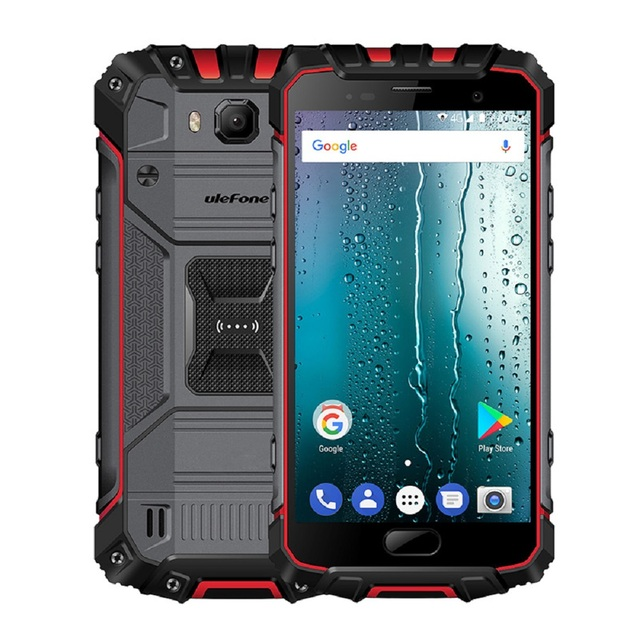 Ulefone Armor 2 IP68 Waterproof Mobile Phone Android 7.0 5.0″ FHD MTK6757 Octa Core 6GB+64GB 16MP Global Version 4G Smartphone