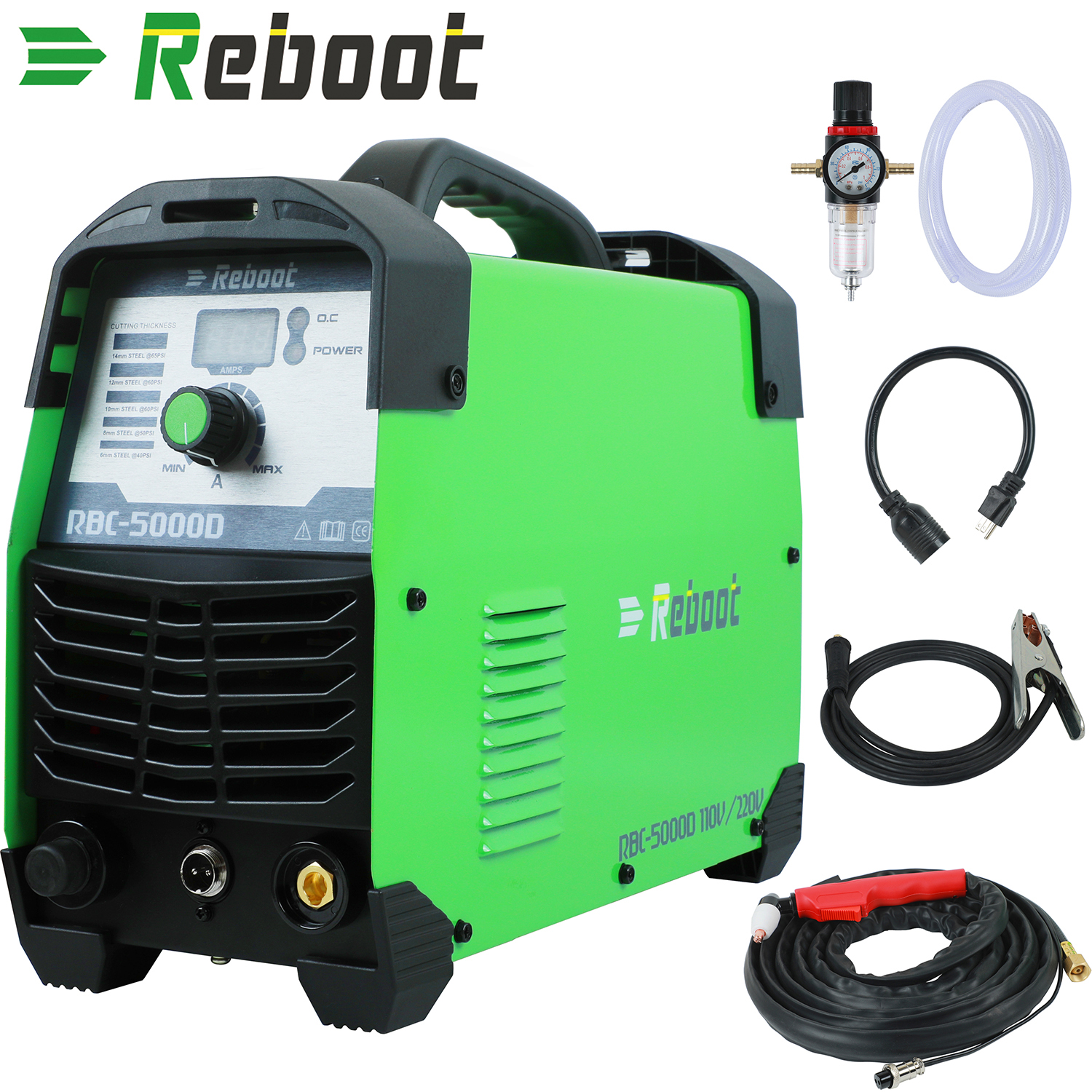 Reboot Cutter Welder 50 A Dual Voltage 110/220V Plasma Cut 50D Portable Welding Machine Intelligent Digital Display Cutting Tool
