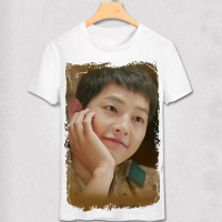Fashion Women Descendants Of The Sun Couples T Shirt Cool Song Joong Ki Tee Lovers T