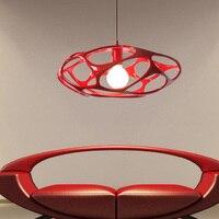 מתקן אורות תליון קן ציפור המודרני נורדי איטלקי Droplight לבן שחור אדום שרף תליית מנורות תאורה פנימית בבית D46cm