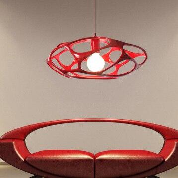 Luminaire suspendu moderne pour nid d'oiseau lampe pendante nordique italienne en résine blanche noire rouge pour éclairage d'intérieur D46cm