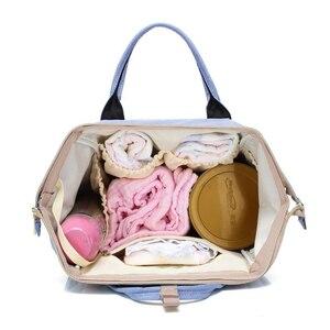 Image 5 - Mumie Mutterschaft Windel Beutel Große Kapazität Infant Baby Reise Rucksack Flaschen Lagerung Nippel Pflege Taschen für Baby Pflege T0567