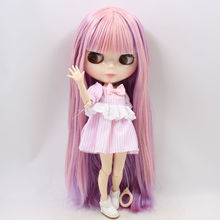 Factory Neo Blythe Doll Pink Purple Hair Jointed Body 30cm