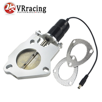 VR RACING STORE 2 5 Inch Universal Exhaust Cutout Billet Butterfly Valve High Motor Brand New