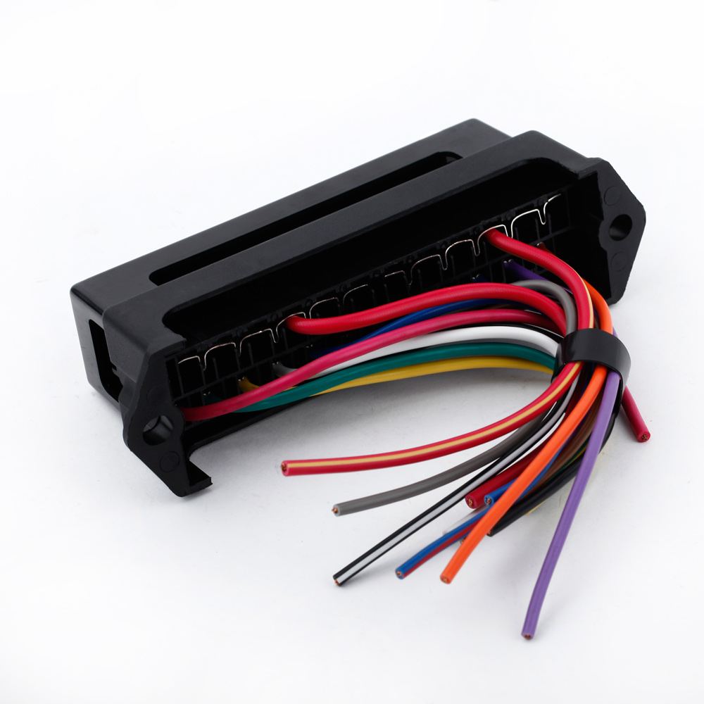 Kkmoon 12 Way Dc 12v Volt Fuse Box 24v 32v Circuit Car Trailer Auto Add A Circuitquot Micro2 Blade Size Holders Block Holder Atc Ato 2 Input Ouput Wire In Fuses From Automobiles