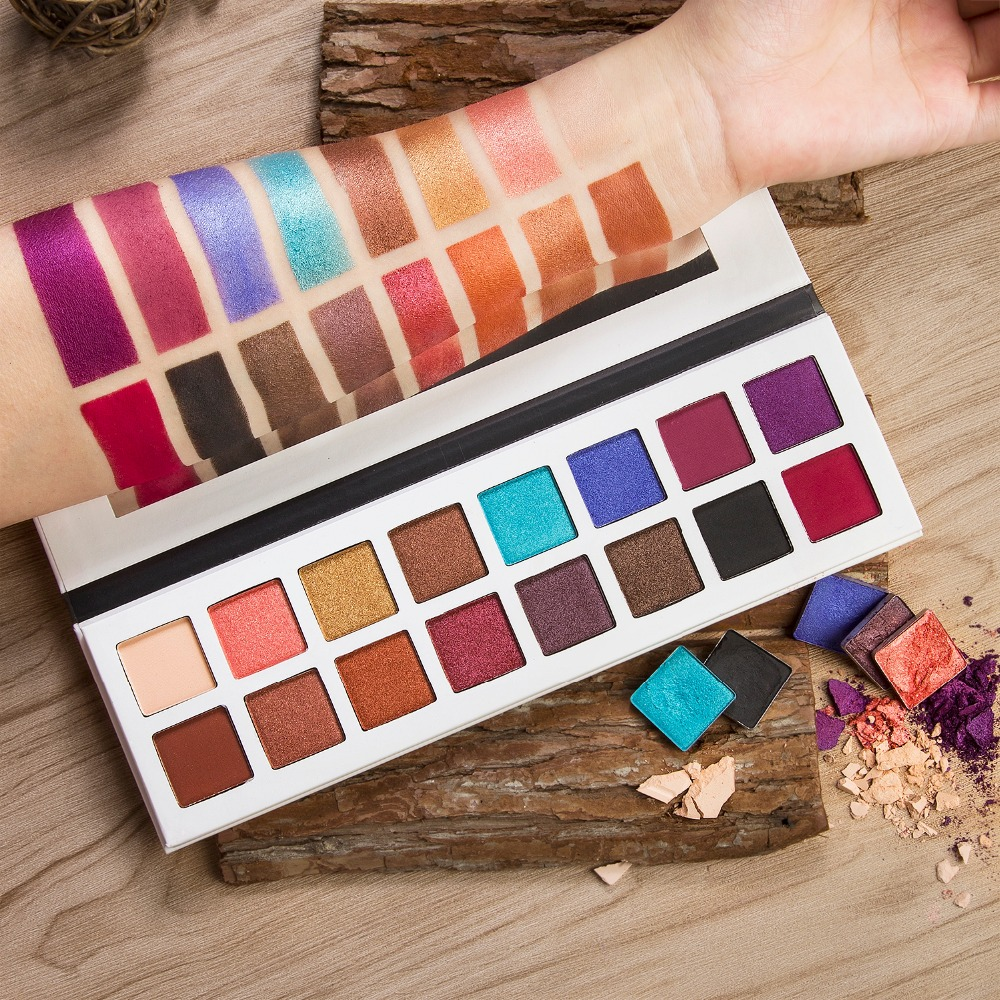 DE'LANCI Pro Eyeshadow Palette 11 Shimmer 5 Matte Colors Makeup Eye Shadow- Highly Pigmented Multi-Colour Collection women newthe balm california and colour that 9 colour cosmetics makeup eyeshadow palette paleta de sombra eye shadow