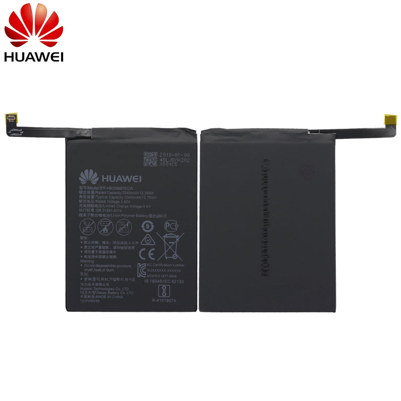 Hua Wei Original Phone Battery HB356687ECW For Huawei Nova 2 plus Nova 2i G10 Mate 10 Lite 3340mAh Replacement Batteries in Mobile Phone Batteries from Cellphones Telecommunications