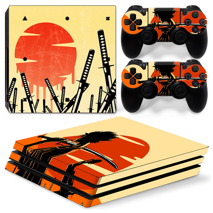 Customed self adhesive games skin for PS4 PRO vinyl decal