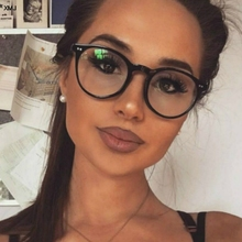New Fashion Women Glasses Frame Men Black  Eyeglasses Vintage Round Clear Lens Optical Spectacle