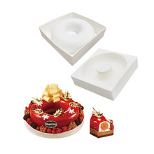 TTLIFE Queen Savarin Donuts Hollow Silicone Mold For Chiffon Dessert Cake Decorating Tools Baking Bakeware Accessories