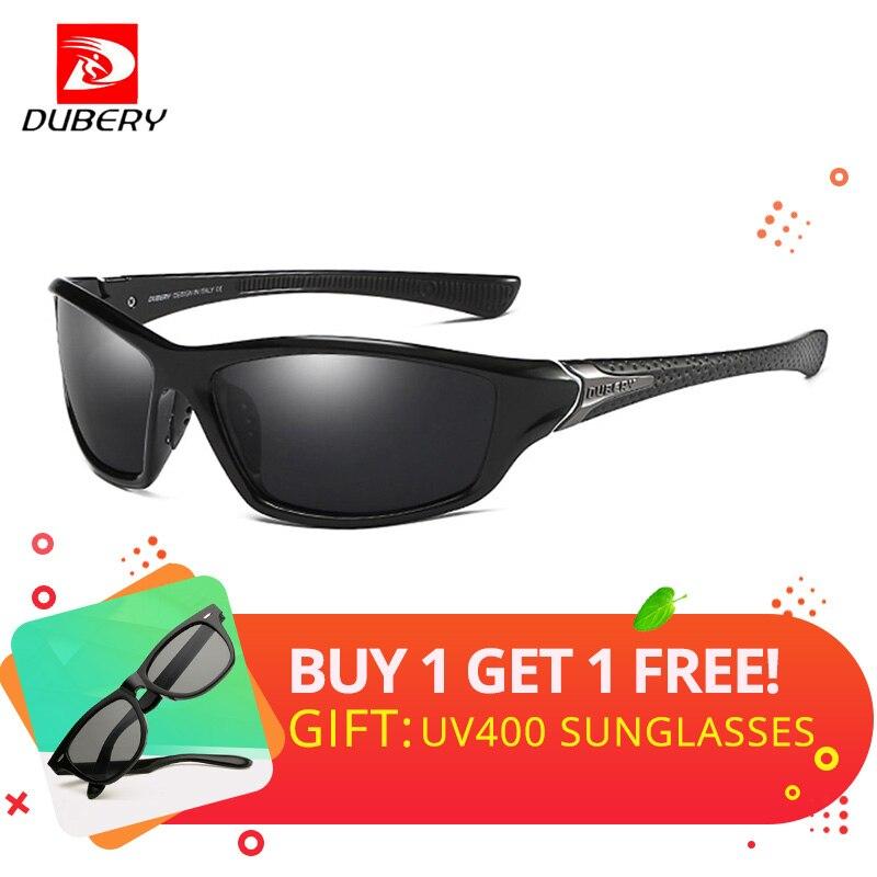 c8066994e91c1 DUBERY Quadrados Óculos De Sol Dos Homens Polarizados uv400 Alta Qualidade  Da Lente Polaroid Condução Viagem