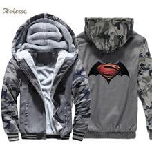 Batman Hoodie Men Super Hero Print Hooded Sweatshirt Coat 2018 Winter Warm Fleece Thick High Quality Jacket Harajuku Sportswear крем пена для ванны рецепты бабушки агафьи питание и восстановление 500мл
